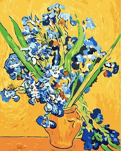 Irises and Roses by Vicent Van Gogh - World Paint by Numbers™ Kits DIY