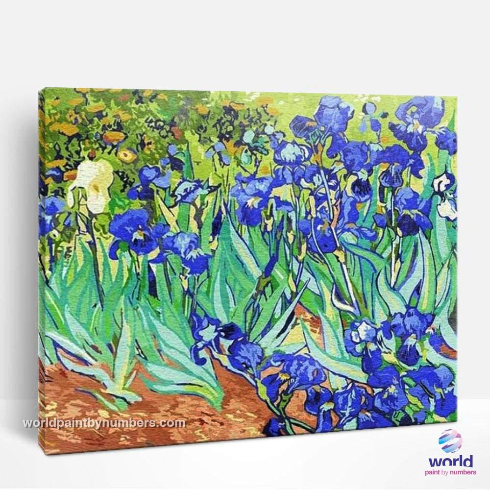 Irises by Vicent Van Gogh - World Paint by Numbers™ Kits DIY