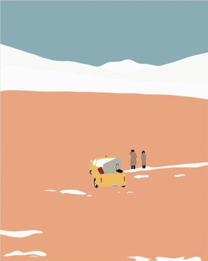 Jeep Ride in the Dunes- Tropical Minimalism - World Paint by Numbers™ Kits DIY