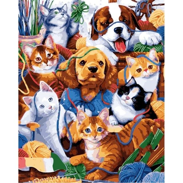 Kittens and Puppies - World Paint by Numbers™ Kits DIY