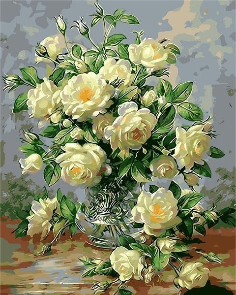 Light Yellow Roses - World Paint by Numbers™ Kits DIY