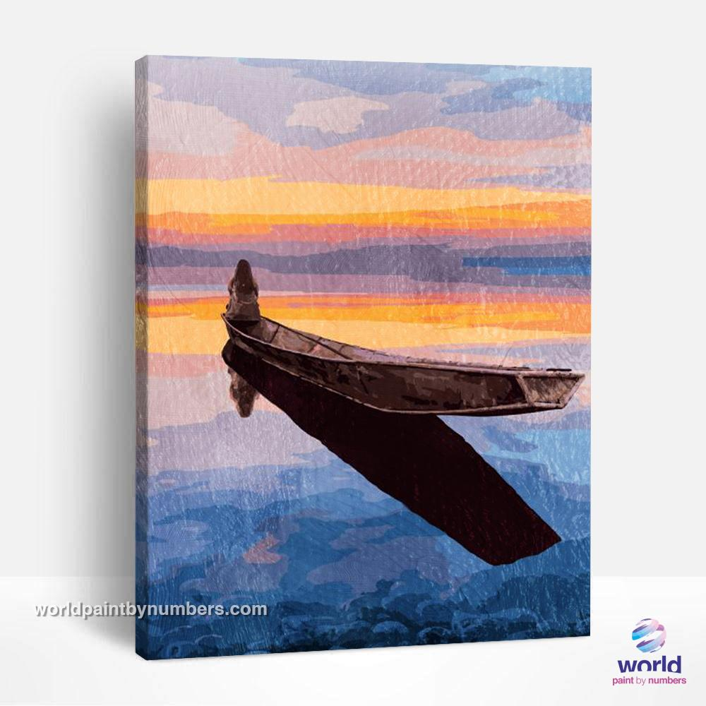 Lonely on the Boat - World Paint by Numbers™ Kits DIY