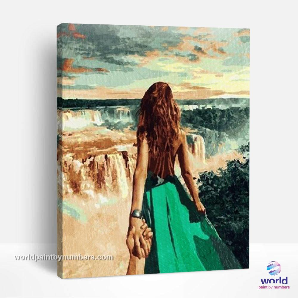 Love at the Falls - World Paint by Numbers™ Kits DIY