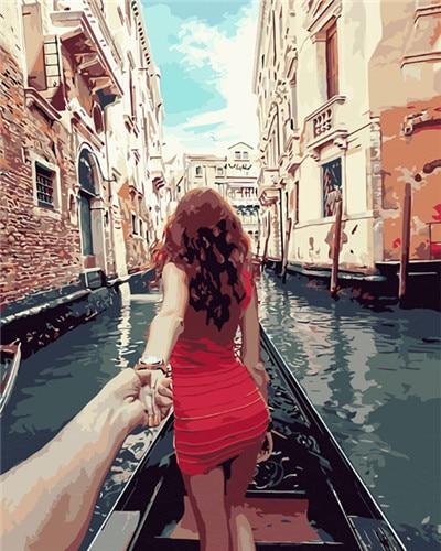 Love in Venice Gondola - World Paint by Numbers™ Kits DIY