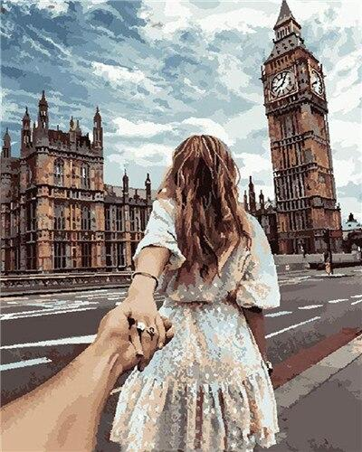 Love on Big Ben London England - World Paint by Numbers™ Kits DIY