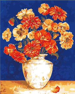 Mix of Orange Flowers - World Paint by Numbers™ Kits DIY