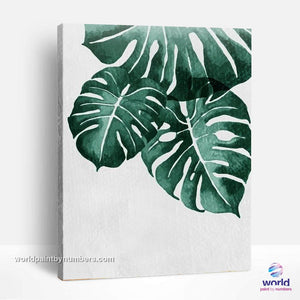 Monstera deliciosa - Leaf Collection - World Paint by Numbers™ Kits DIY