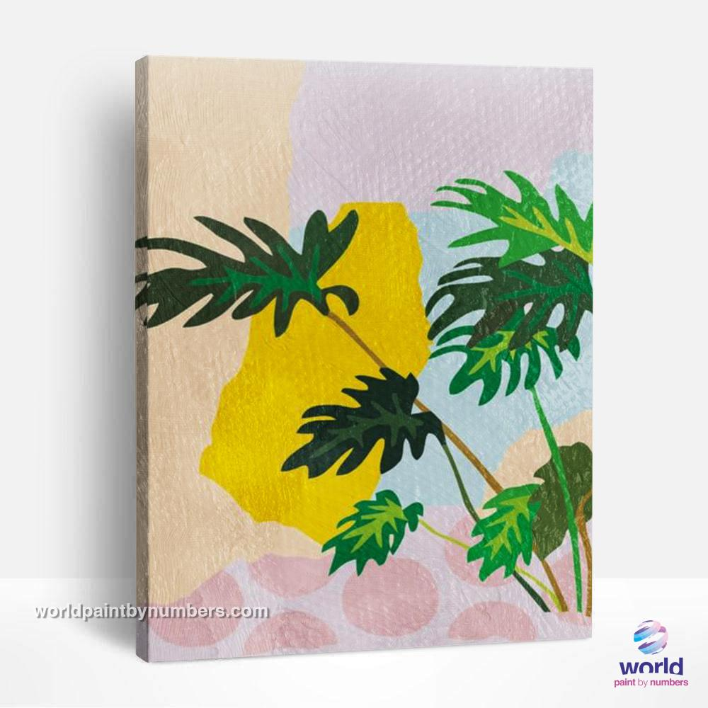 Monstera Deliciosa - Tropical Minimalism Collection - World Paint by Numbers™ Kits DIY