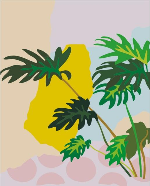 Monstera Deliciosa - Tropical Minimalism - World Paint by Numbers™ Kits DIY