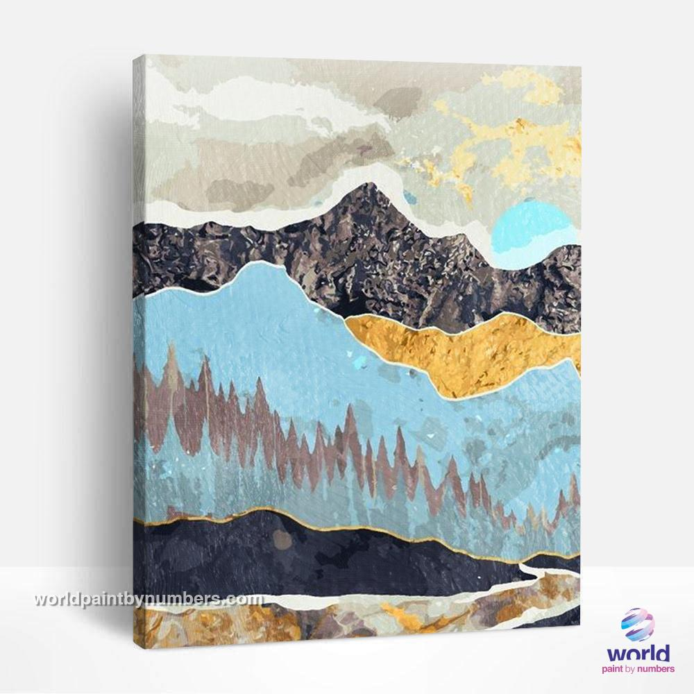 Mountain Range of Textures - Summer Layers Collection - World Paint by Numbers™ Kits DIY