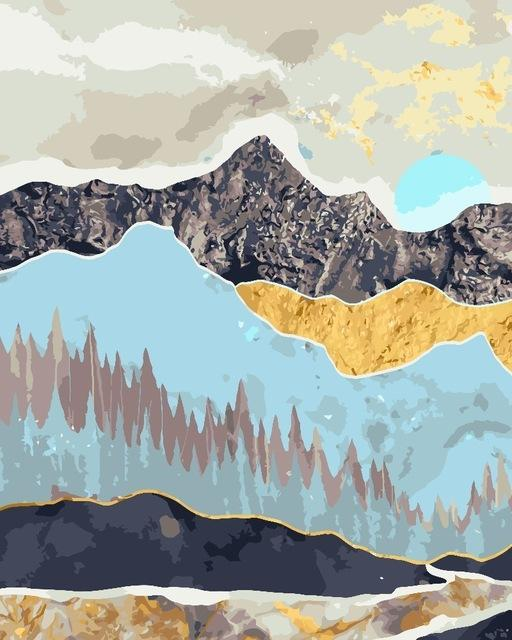 Mountain Range of Textures - World Paint by Numbers™ Kits DIY