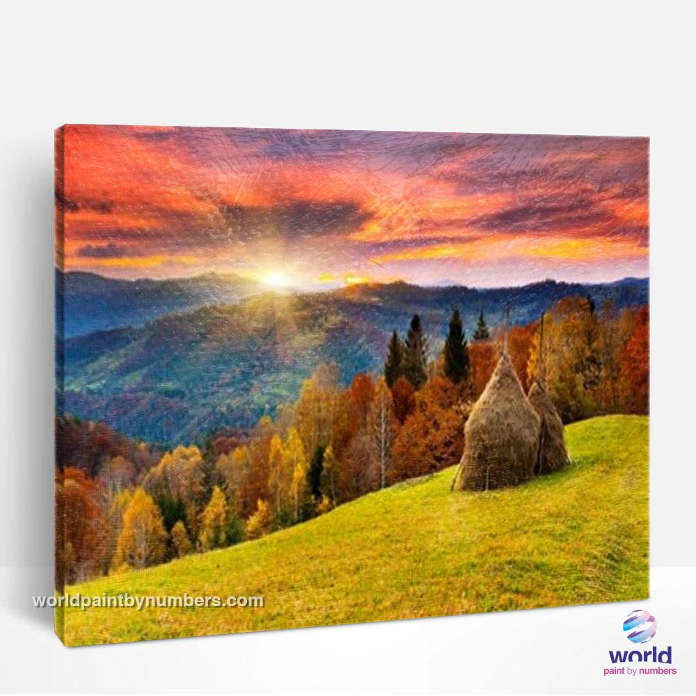 Mountain Top Sunset - World Paint by Numbers™ Kits DIY