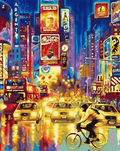 New York Times Square - World Paint by Numbers™ Kits DIY