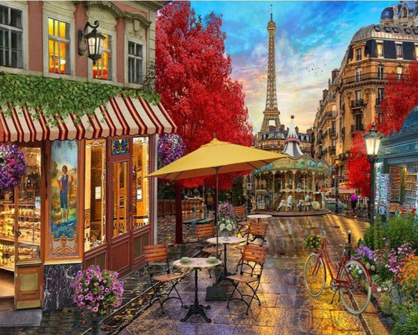 Paris Street Market - World Paint by Numbers™ Kits DIY