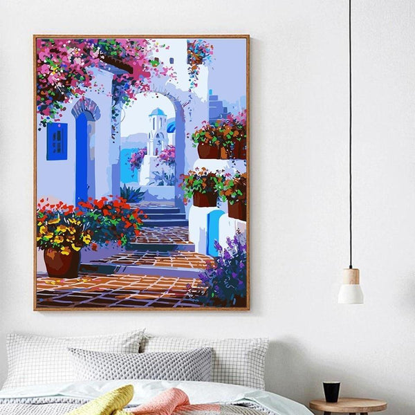 Paths of Santorini - World Paint by Numbers Kits DIY