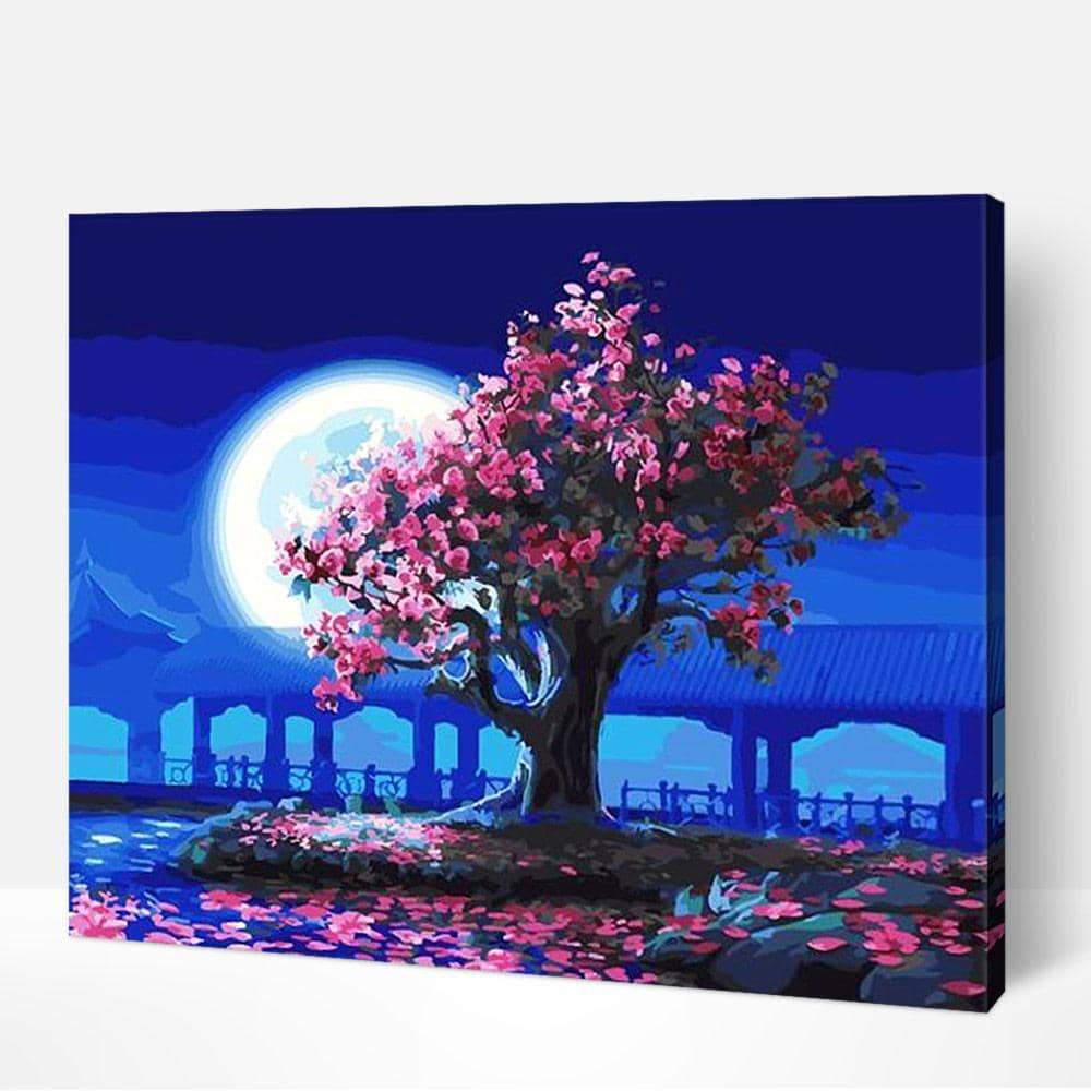 Peach Blossom and the Moon - World Paint by Numbers™ Kits DIY