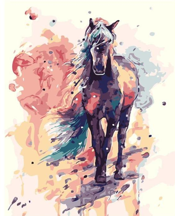Purple Pony - World Paint by Numbers™ Kits DIY