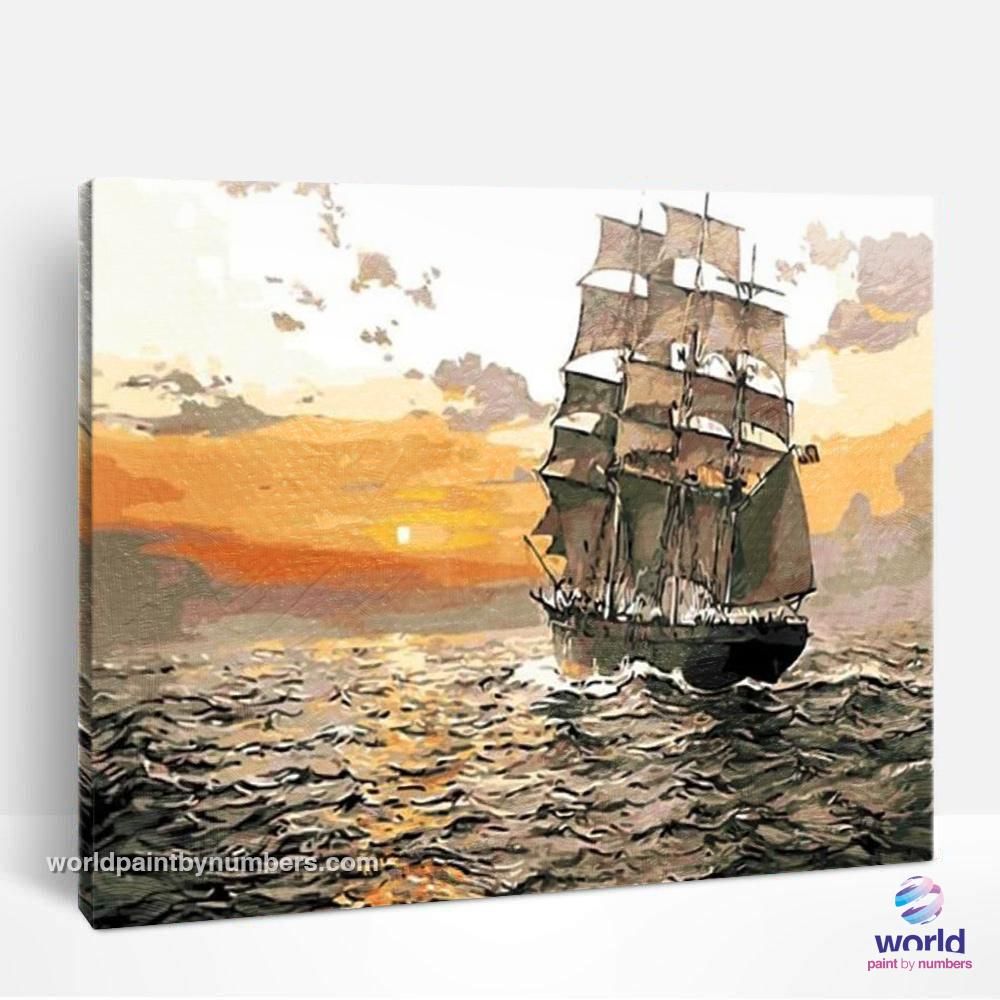 Sailing Boat - World Paint by Numbers™ Kits DIY