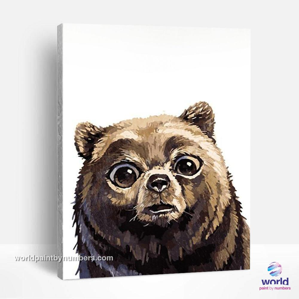 Scared Bear - World Paint by Numbers™ Kits DIY