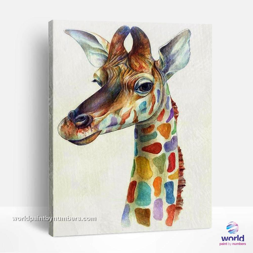Smiling Giraffe - World Paint by Numbers™ Kits DIY