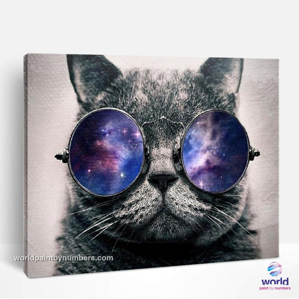 Sunglasses Cat - World Paint by Numbers™ Kits DIY
