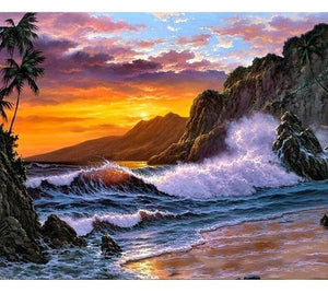 Sunset Waves- World Paint by Numbers Kits DIY