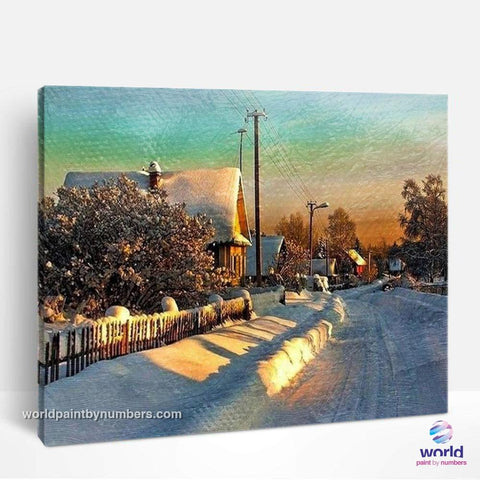 Sunshine in Scandinavian Winter- World Paint by Numbers™ Kits DIY