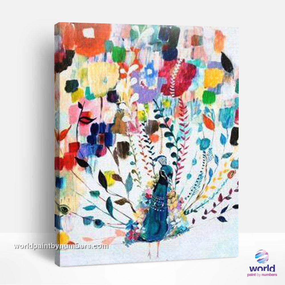 The Beauty of the Peacock - World Paint by Numbers™ Kits DIY