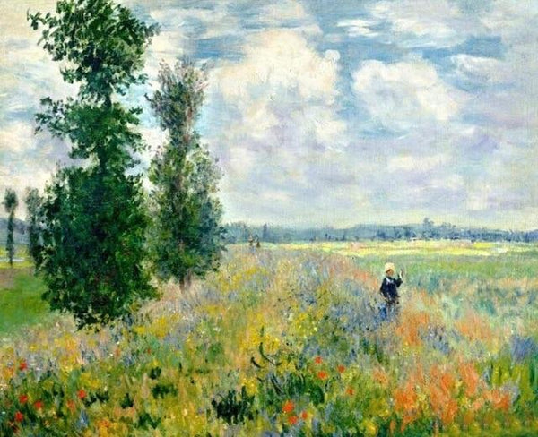 The Poppy Field near Argenteuil by Claude Monet - World Paint by Numbers™ Kits DIY