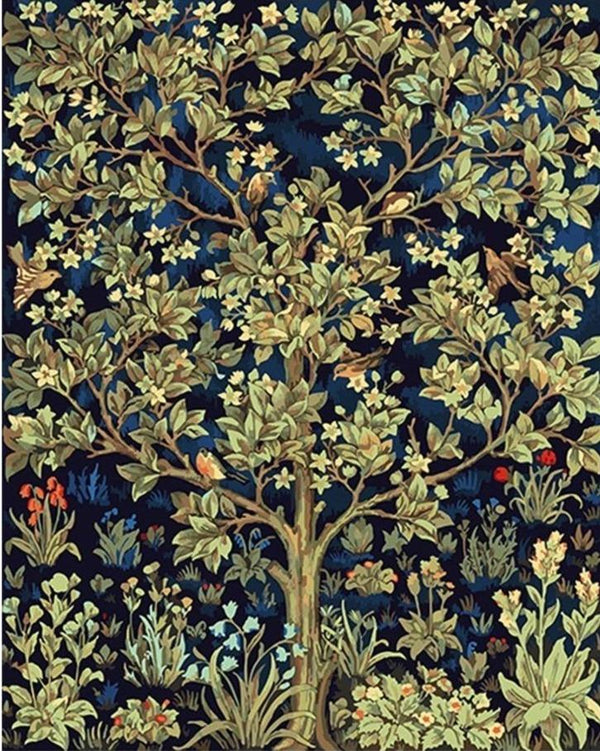 Tree Of Life by William Morris - World Paint by Numbers™ Kits DIY