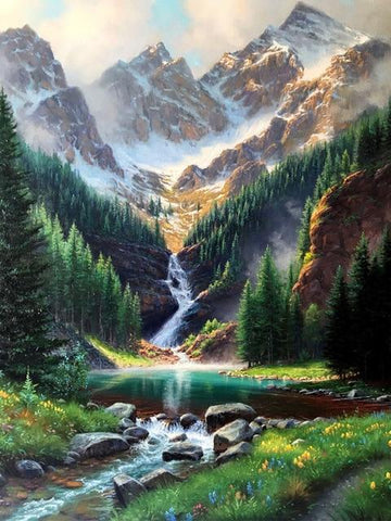 Waterfall Landscape - World Diamond Painting™ 5D DIY