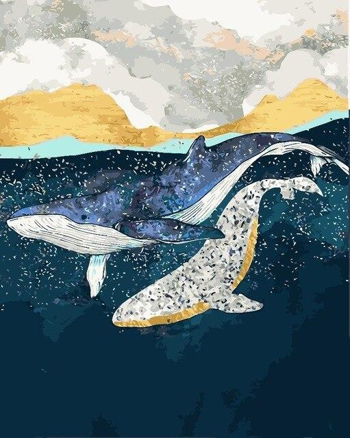 Whales Overboard - World Paint by Numbers™ Kits DIY