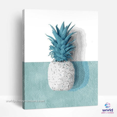 White Pineapple - Leaf Collection - World Paint by Numbers™ Kits DIY