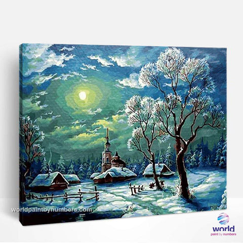 Winter Day - World Paint by Numbers™ Kits DIY