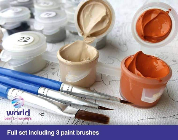 Winter Sunset Forest - World Paint by Numbers™ Kits DIY