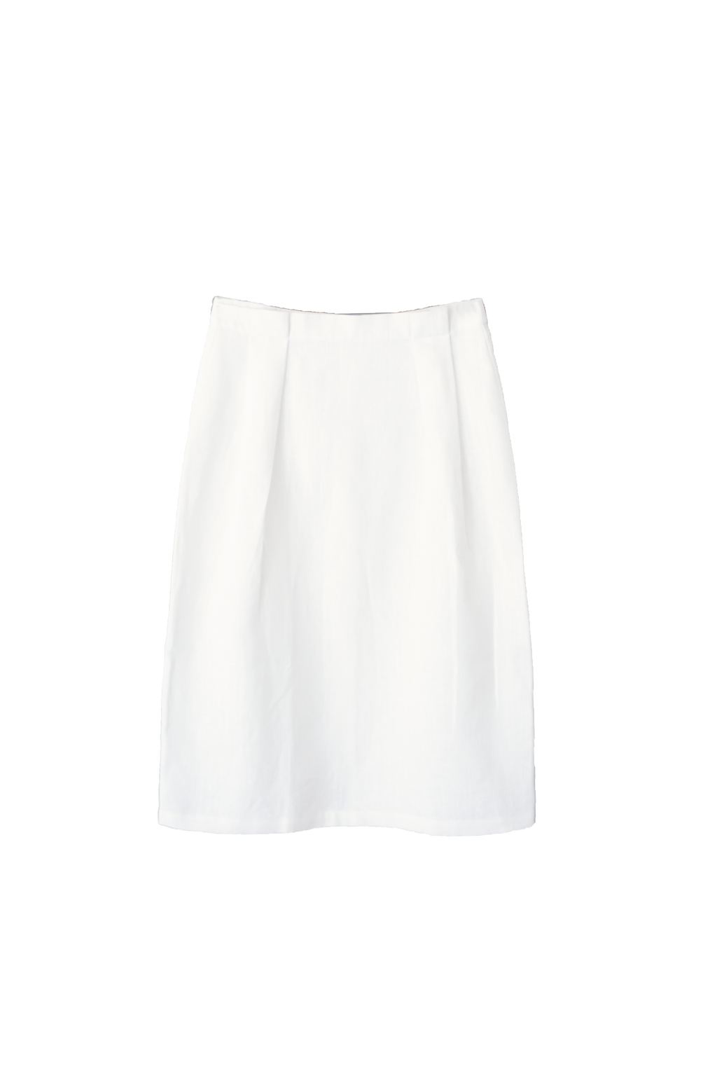 Linen Skirt in Salt