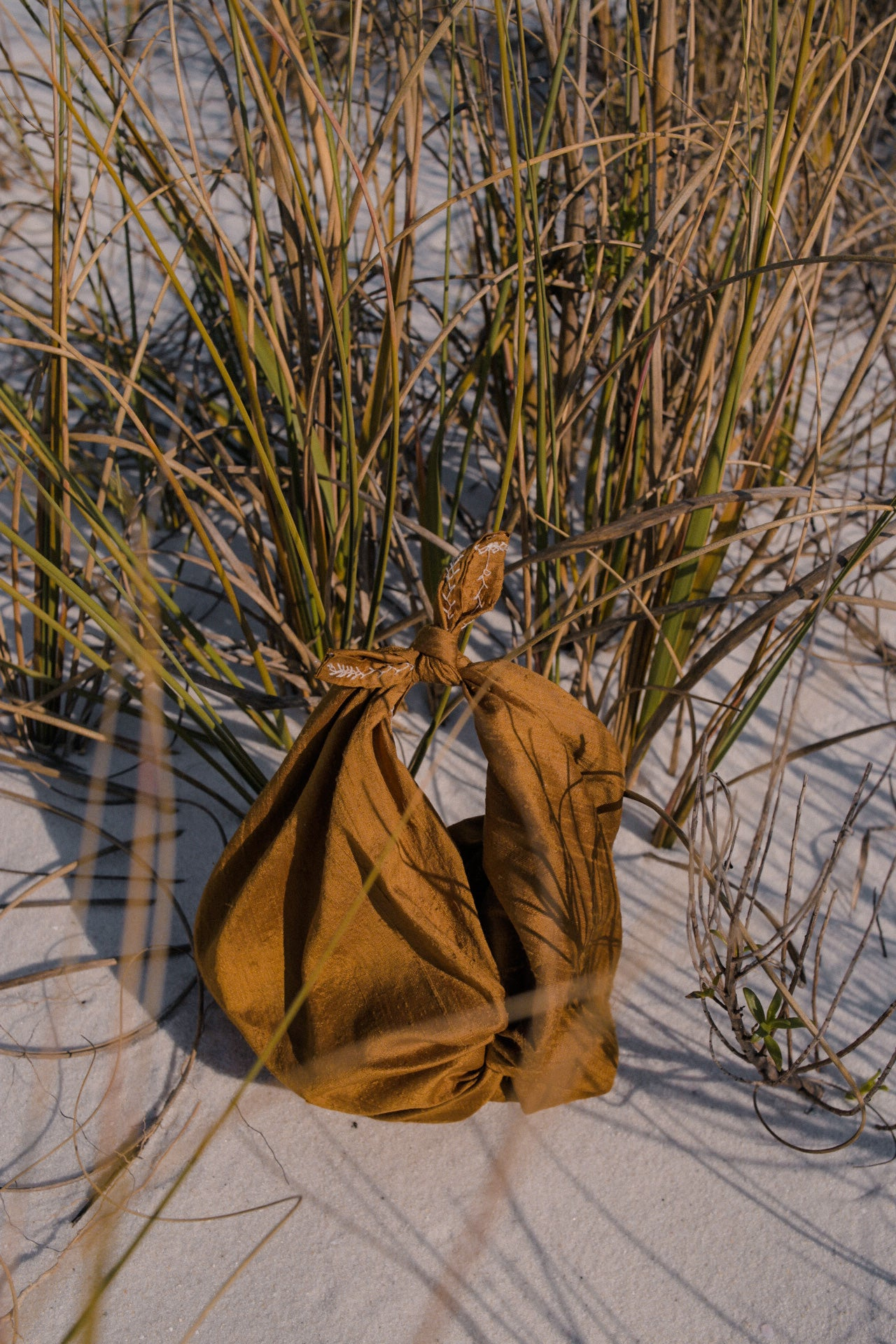 Furoshiki Bag – Raw Silk in Gold