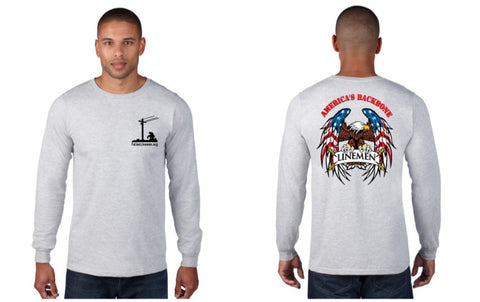 American Backbone Long Sleeve (Gray or Royal)