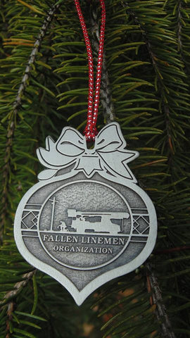 Fallen Linemen Christmas Ornament