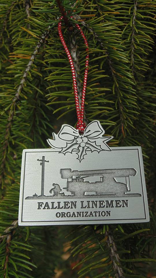 Fallen Linemen Christmas Ornament Rectangle