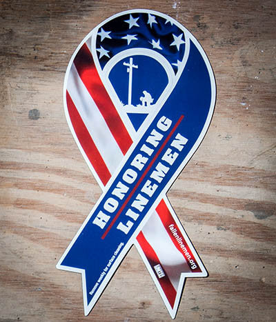 Honoring Linemen Ribbon Magnet