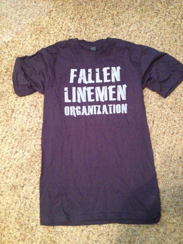 Navy Fallen Linemen T-Shirt