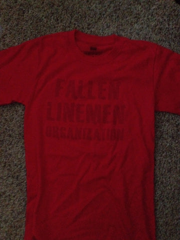 Red Fallen Linemen Org Shirt
