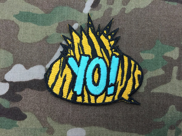 Yellow Zebra YO! Patch - Free Shipping