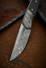 Clyde Challenor Custom Damascus and CF Hornet - Free Shipping