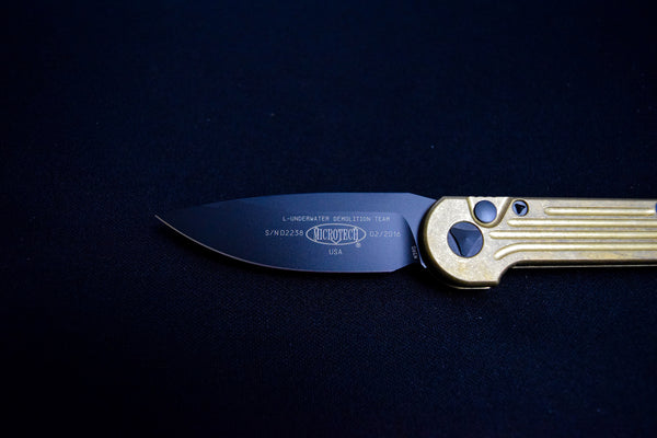 Microtech Brass L-Underwater Demolition Team (L U D T