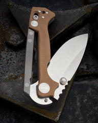Andrew Demko Contoured Tan G10 AD15 - Free Shipping