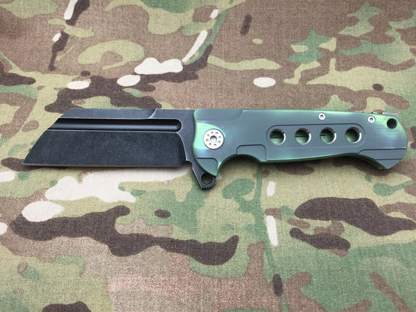 Andre De Villiers Midtech Butcher Gen 2 Black & Green with holes - Free Shipping