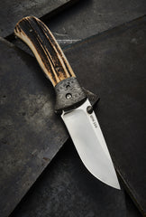 Les George Mokume Stag Folder - Free Shipping