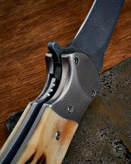 RJ Martin Q36 Stag and Damascus - Free Shipping